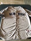 MLB New York Yankees Mickey Mantle Majestic # 7 Road Away Jersey Mens Size 54