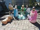 Vintage Blow Mold Nativity Scene Lawn Decorations 9 Piece I AM OPEN TO OFFERS