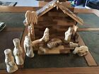 Hand Carved Wooden Nativity Set
