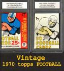 Visual History to Topps Vintage Football Wrappers: 1950 -1980 35