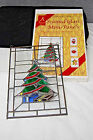 Stained Glass Mini Panel Christmas Tree  Poinsettia Rooster Decor X977
