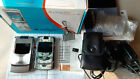 2 Motorola RAZR V3 Cell Phones w 2 Chargers Cases Box Manual Extras Used Works
