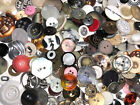 ECLECTIC MIX 100 pcs MIXED LOT of OLD VINTAGE  NEW Buttons ALL TYPES  SIZES