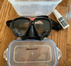 Mansov Diving Snorkeling Swimming Black red Goggles Adult Youth