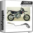 ARROW HOM NOCAT FULL EXHAUST ROUND TITANIUM DERBI DRD EDITION 50 SM 03/07