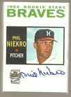 Phil Niekro autograph card - Topps Archives 2001