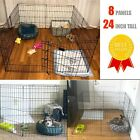 Dog Playpen 8 Panel 24 Inch Tall Puppy Playpen Kennel Folding Fence