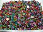 Two Pounds Chinese Spray Painted Oval Glass Beads Wholesale Bulk Lot NVF 43