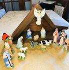 Vintage Large NATIVITY SCENE SET Holland Mold Ceramic 17 Pcs Christmas Holiday