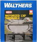 HO Scale Walthers Cornerstone 933 2859 Assembled Motorized 130 Turntable DC DCC