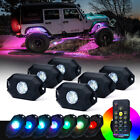 Xprite 6 Pods Rock Lights Underglow Chasing System Bluetooth for Pickup Jeep utv
