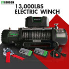 STEGODON Electric Winch 13000LBS 12V Synthetic Rope Towing Truck Off Road Jeep