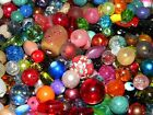 NEW 6 oz Multi Color 6 20mm MIXED LOOSE BEADS LOT GLASS Gemstone NO JUNK