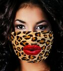 CHEETAH  RED LIPS MASK OR COVERMADE USACLOTH MASKMASK WITH FILTERWASHABLE