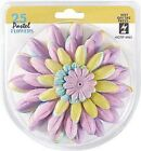 PASTEL FLOWERS BY HOT OFF THE PRESS 25 FLOWERS 5 COLORS  5 SIZES