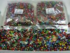 2 Pounds Assorted Colors India Spacer Glass Beads Wholesale Bulk Lot TR 54