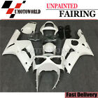 Unpainted ABS Injection Fairing Kit Set For Kawasaki ZX-6R ZX6R ZX636 2003 2004