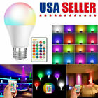 Lot 16 Color Changing Light Bulbs with Remote Dimmable LED Light Bulb E27 Base