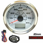 85mm GPS Speedometer Odometer Gauge 80MPH For Car Truck Motorcycle Boat 120Km h
