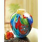 Vase Floral Fantasia Art Glass Individually Hand Crafted Unique Decor