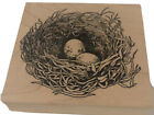Birds Nest With Eggs 2002 Wood Rubber Stamp by Serendipity Stamps G218 Hawk Owl