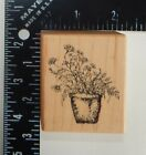 PSX Wildflowers In A Pot Rubber Stamp E2412