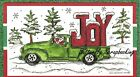 CHRISTMAS JOY CLASSIC TRUCK Wood Mounted Rubber Stamp NORTHWOODS NN10329 New