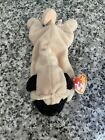 New TY Beanie Baby 1996 Pugsly The Dog Pug NWT Rare Plush Retired Tags Brown Dog