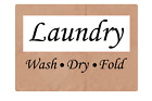 Laundry -wash- -dry- -fold- Adhesive Vinyl Sign Decal