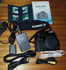 Canon EOS 400D Digital SLR Camera - Black (Body Only) with accessories