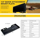 14 516 12 Skid Steer Mount Plate 3 Adapter Loader Quick Tach Attachment