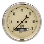 Auto Meter 1879 3-38 Speedometer Gauge Elec W Barrel Odo Antique Beige New