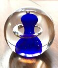 Adam Jablonski Paperweight Lead Crystal Art Glass Mouth Blown Signed Poland