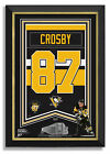 Sidney Crosby Facsimile Signed Pittsburgh Penguins Jersey Banner Museum Frame