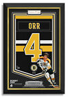 Bobby Orr Signed Boston Bruins Jersey Arena Banner - Archival Etched Glass™ 144