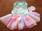 SIMPLY WAG sz S GREEN  PASTELS puppy dog dress SUMMER SASSY GAL adorable