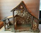 Vintage Depose Fontanini Nativity Creche Hard Resin 12 Tall 16 Wide 65 Deep