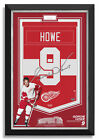 Gordie Howe Signed Detroit Red Wings Jersey Arena Banner Archival Etched Glass™