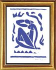 Henri Matisse Hand Signed Ltd Edition Print Blue Nude with COA unframed