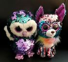 Ty Beanie Boos Flippables Set of 2 - Yappy Chihuahua Dog & Moonlight Owl Plush