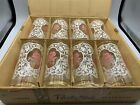 RARE 8 Vintage Mid-Century Modern LIBBEY PARTY TIME PINK ROSE Tumblers Orig Box!