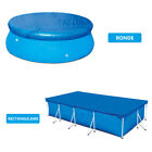Round Rectangular Swimming Paddling Pool Cover Protection UV resistant Dustproof