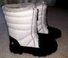 Pediped Winter Snow Ski Boots Toddler Girls 12 12.5 White/Black Gray Insulated
