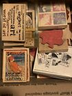 Rubber Stamps Vintage Wholesale Lot Big Wooden Used And New Floral Chinese