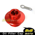 CNC Engine Red Oil Filler Cap For HONDA CRM250R/AR 1989-1998 90 91 92 93 94