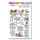 Stampendous SURVIVED 2020 Perfectly Clear Stamp Set Words Toilet Paper Sanitizer