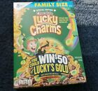 GENERAL MILLS FAMILY SIZE CHOCOLATE SPECIAL EDITION LUCKY CHARMS CEREAL19.5 OZ