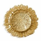 Beaded Glass Charger Plate Gold Silver Rose Gold Gold Leaf 33cm Diameter Wedding