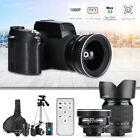 33MP HD D7300 Camcorder Camera Wide Angle + 24X Telephoto Lens + LED +Tripod Kit