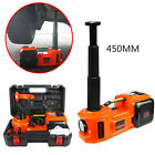 Car Jack Lift 12V 5 Ton 4 in 1 Electric Hydraulic Floor Jack Tire Inflator Pump